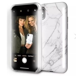 LuMee Duo Marble iPhone XS Max Case